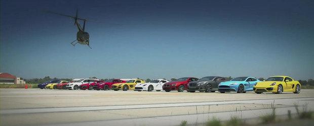 Cea mai grozava cursa de drag din lume: 12 masini si 6.140 CP in actiune!