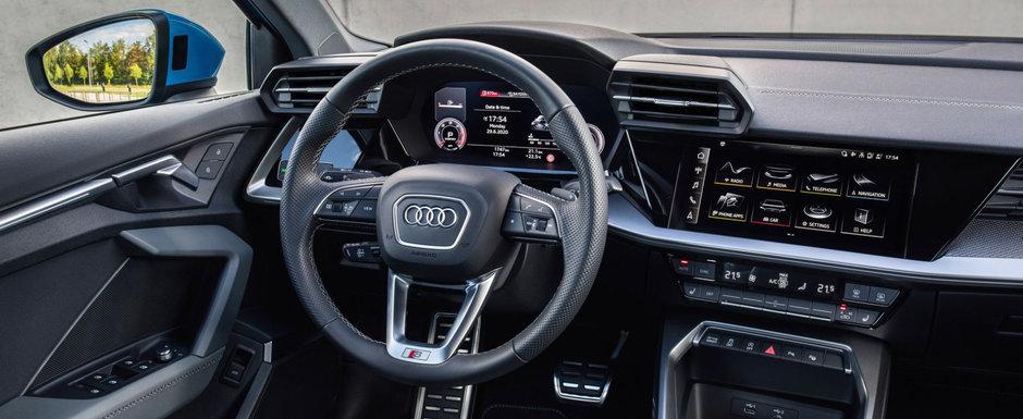 Cea mai ieftina berlina de la Audi. Imagini spectaculoase cu masina care costa cu peste 5.000 de euro mai putin decat un A4