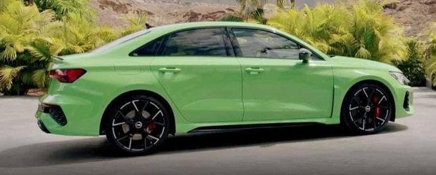 Cea mai ieftina berlina de la Audi va primi curand o varianta super-sport. Noua masina de 400 CP a ajuns mai devreme pe internet