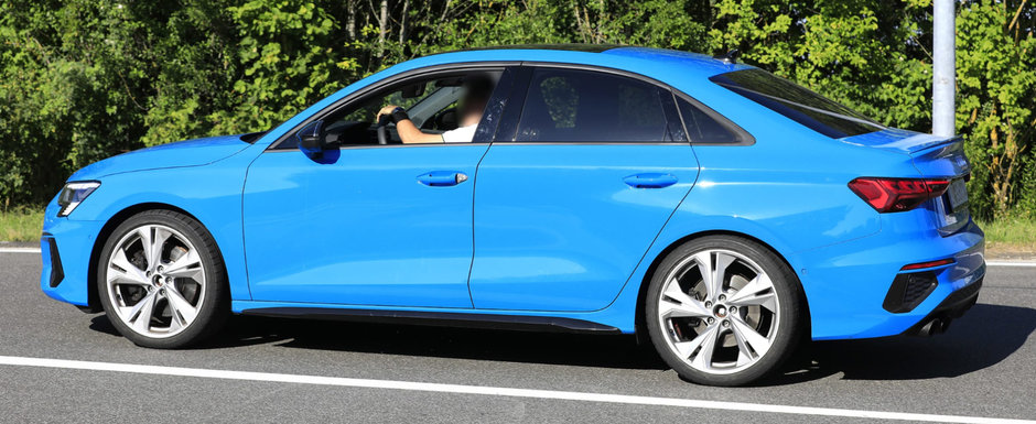 Cea mai ieftina berlina de la Audi va primi curand o varianta sport. Noua masina de 310 CP a fost surprinsa deja in teste...