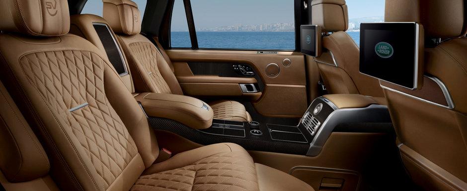 Cea mai noua masina de la Range Rover e lux total. Are scaune care se inclina si frigider in cotiera