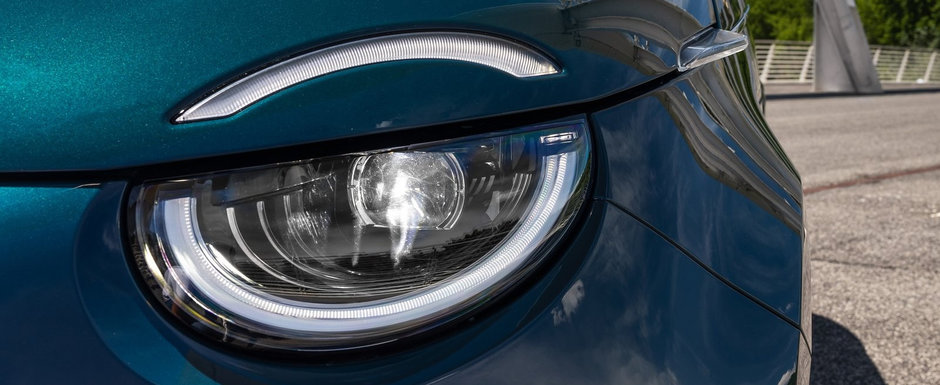Cea mai noua masina lansata pe piata din Romania e aceasta electrica cu design retro la exterior si tehnologii moderne la interior