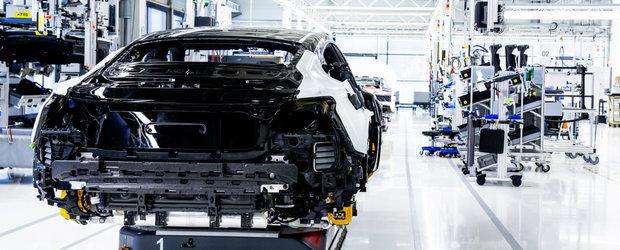 Cea mai puternica electrica produsa vreodata de Audi tocmai a intrat pe linia de asamblare