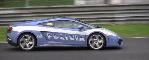 Cea mai rapida masina de politie din lume? Cu Lamborghini Gallardo pe circuit!