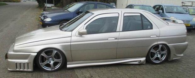 Cea mai ridicola Alfa din lume cauta ajutor pentru a scapa de acest tuning. Se vinde pentru doar 1.375 euro!