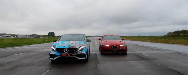 Cea mai tare Alfa Romeo Giulia pusa la punct de Mercedes-ul AMG A45