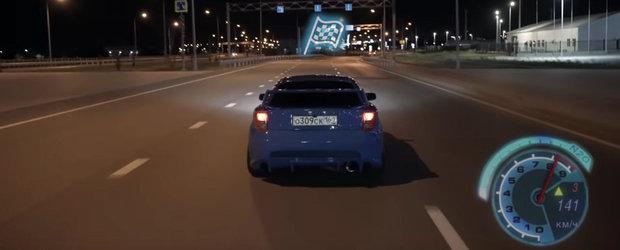 Cel mai cunoscut joc cu masini devine realitate in acest VIDEO. Need For Speed filmat pe strazile din Rusia