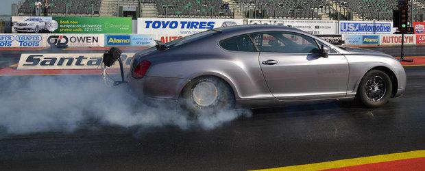 Cel mai inedit dragster din lume: Primul VIDEO cu Bentley-ul de 3000+ CP!
