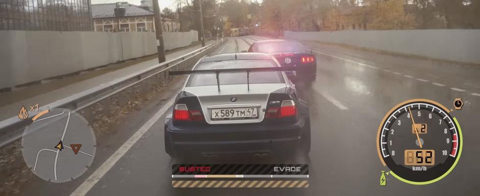 Cel mai iubit joc din seria Need for Speed devine realitate in acest VIDEO. Most Wanted prinde viata pe strazile din RUSIA
