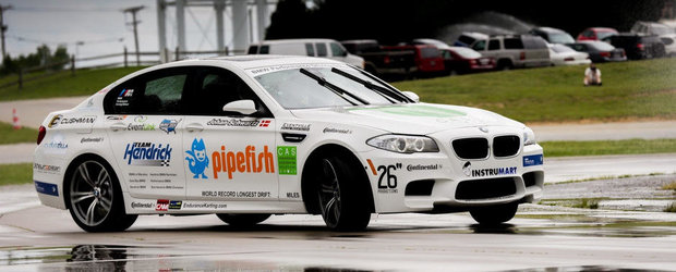 Cel mai lung drift din lume: 82,506 km in derapaj continuu la volanul unui BMW M5