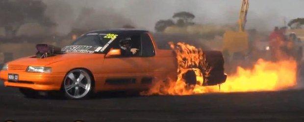 Cel mai mare burnout cu foc din lume a fost facut in Australia