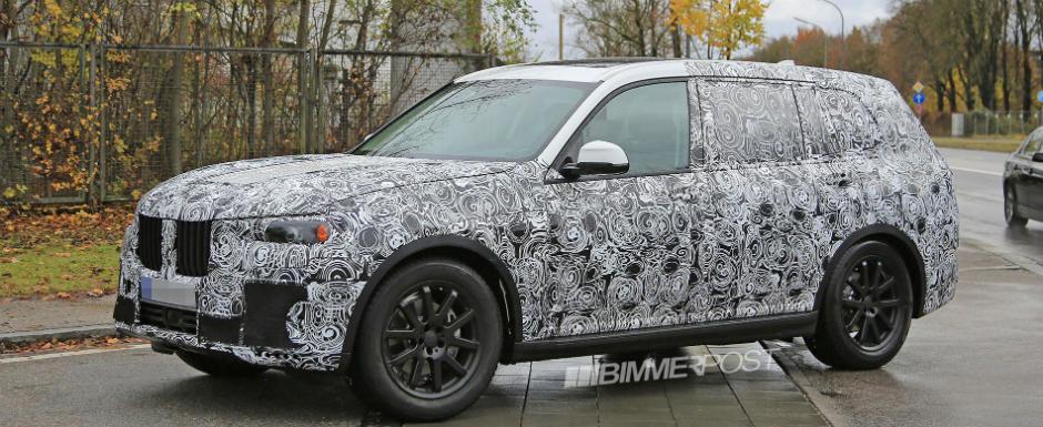 Cel mai mare SUV BMW surprins in premiera in teste. X7 vine in 2018 cu design nou si trei randuri de scaune