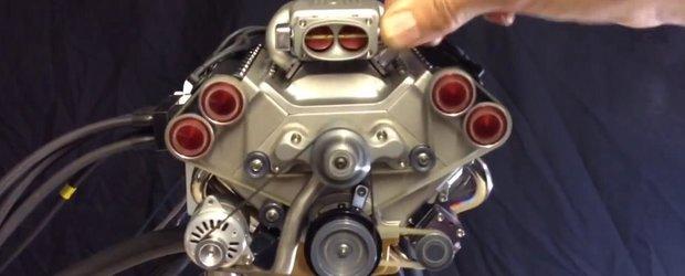 Cel mai mic motor V8 din lume cu injectie electronica pare o bijuterie
