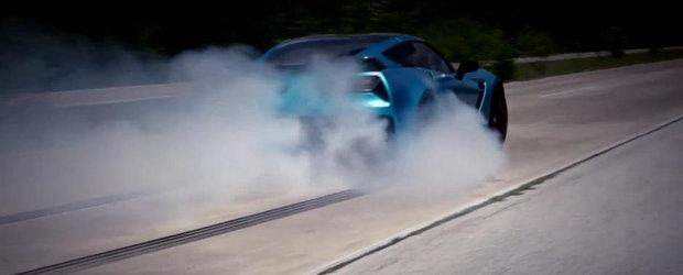 Cel mai nebun Corvette C7 Z06 are 2 butelii de NOS si 1.000+ CP la roti
