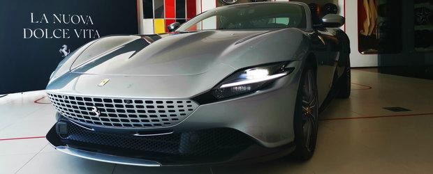 Cel mai nou model Ferrari a facut un scurt popas in ROMANIA. Noi am fost sa-l vedem pe viu si am aflat cat costa