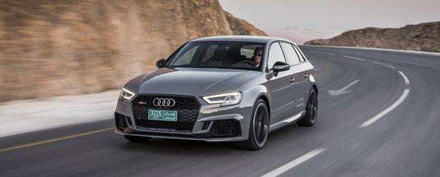 Cel mai puternic hot-hatch din lume a ajuns in Romania. VEZI cat costa noul Audi RS3 Sportback
