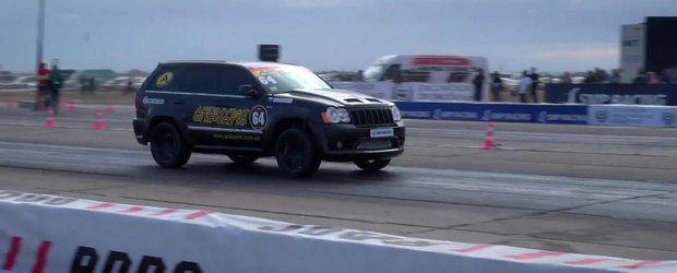 Cel mai rapid Jeep din Europa parcurge sfertul de mila in 9.6 secunde