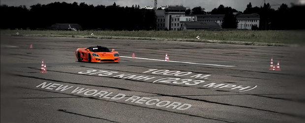 Cel mai rapid Saleen S7 din lume atinge 375 km/h in 1.000 metri