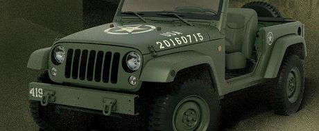 Cel mai recent omagiu adus Jeep-ului Willys se numeste Wrangler Salute