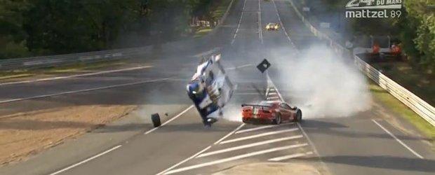 Cel mai spectaculos accident din cadrul cursei de la Le Mans din acest week-end