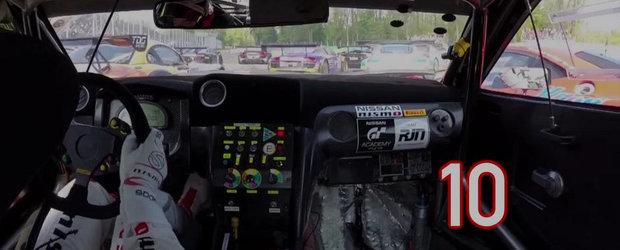 Cel mai tare pilot de curse depaseste 17 masini intr-un singur tur!