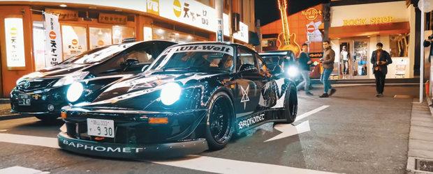 Cele mai tari Porsche-uri 911 din lume s-au adunat la Tokyo pentru o invazie de masini tunate