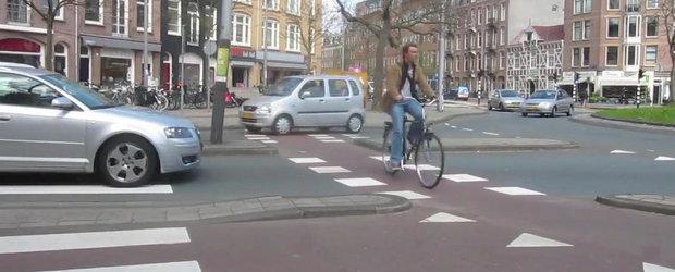 Centrul Amsterdamului e mai prietenos cu biciclistii decat intreaga Romanie
