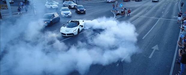 Cerculete in plin trafic cu un Ferrari de peste 1 milion de euro. S-a intamplat in Budapesta
