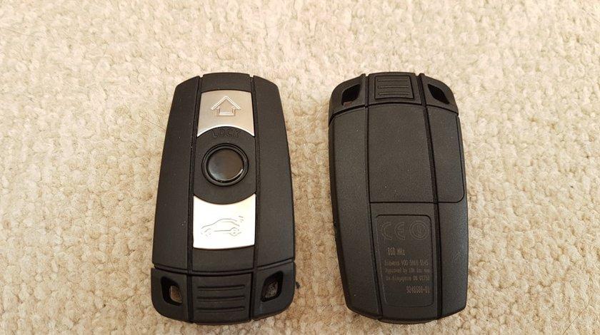 Cheie BMW CAS3 - smart key 3 butoane 868MHZ PCF7952 - seria 1/3/5/7 , X5 X6 Z4