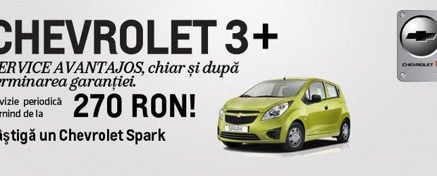 Chevrolet 3+ ofera service avantajos chiar si dupa terminarea garantiei