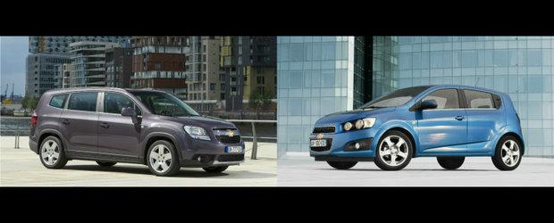 Chevrolet Aveo hatchback si Orlando primesc punctaj maxim pentru siguranta