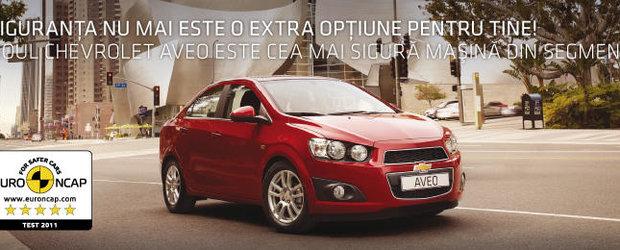 Chevrolet Aveo si Malibu, pe lista fruntasilor la testele EuroNCAP