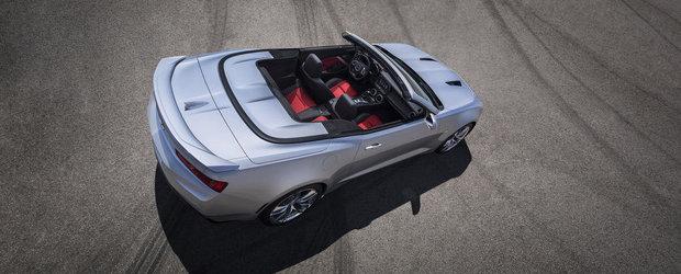 Chevrolet Camaro Convertible debuteaza oficial. Cum arata noul model