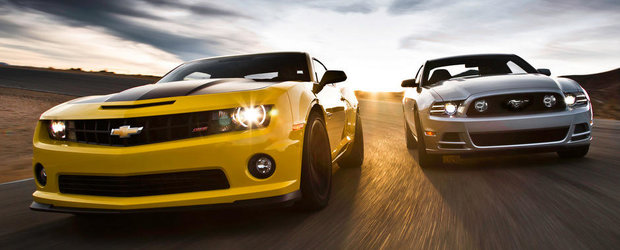 Chevrolet Camaro SS si Ford Mustang GT isi dau intalnire pe circuit. VIDEO AICI!