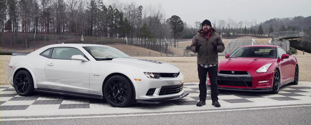 Chevrolet Camaro Z/28 si Nissan GT-R se intrec pe circuit. Cine sa castige oare?