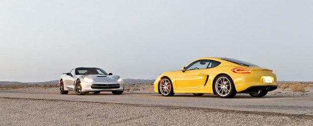 Chevrolet Corvette vs Porsche Cayman S: Duelul supercarurilor de 60.000 dolari