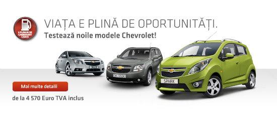 Chevrolet propune oferte foarte avantajoase pentru toate modelele gamei