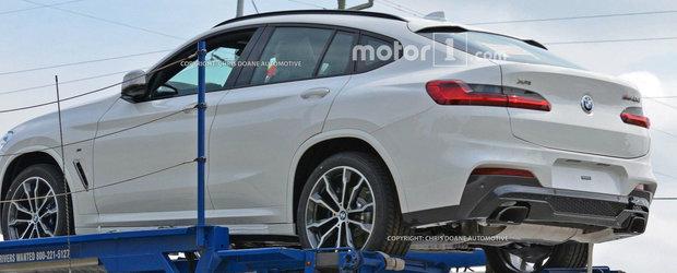 Chiar zici ca-i un Mercedes GLC Coupe. Noul BMW X4 a fost surprins complet necamuflat