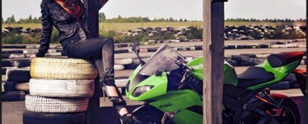 Chica Bomb: Andreea si Kawasaki ZX-6R