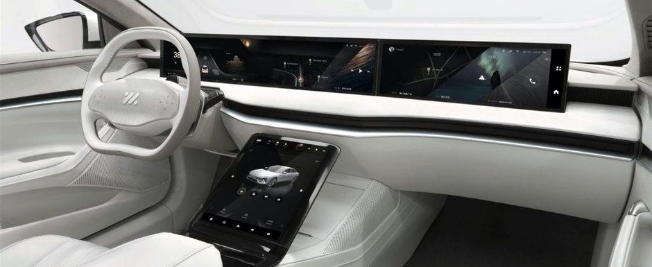 Chinezii au lansat pe piata masina cu incarcare wireless si display 4K de 39 de inch. Galerie foto completa