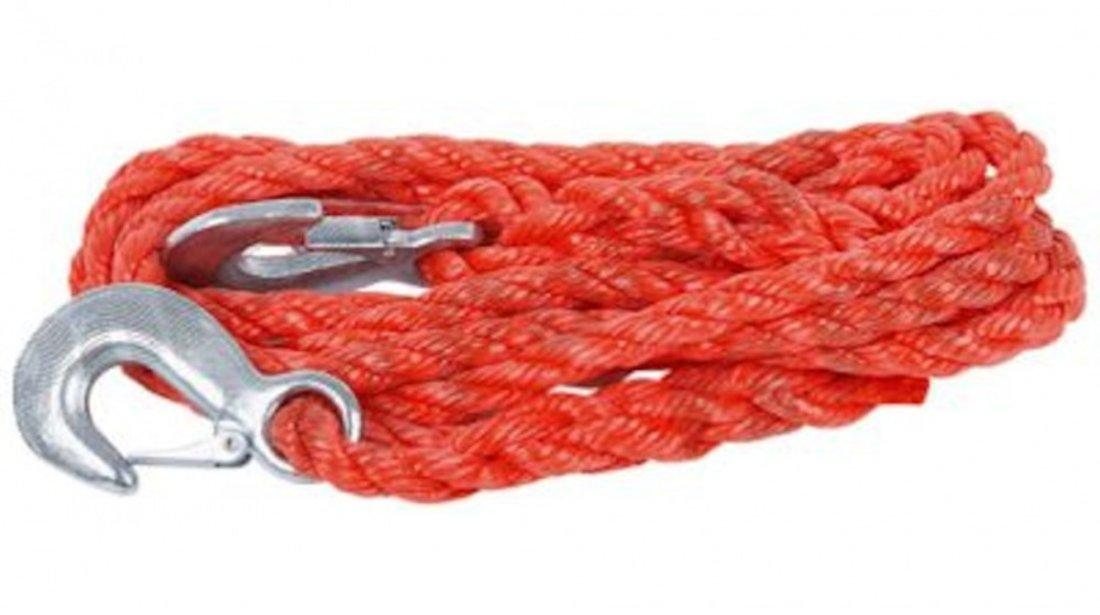 Chinga remorcare sufa ancorare si/sau ridicare chinga tractare maxim 2500-3500 kg , lungime 4m,prindere carlige ,culoare rosu