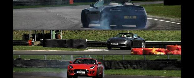Chris Harris pune fata in fata noul Jag F-Type si ultimele V8 Vantage, respectiv 911 Carrera S