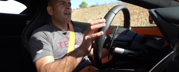 Chris Harris testeaza noul McLaren 570S pe circuit si pe strazi publice