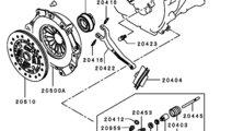 Cilindru ambreiaj Mitsubishi L200 motor 2,5 DI-D A...