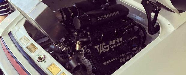 Cineva a montat un motor de FORMULA 1 in spatele unui Porsche. Este un V6 de 1.5 litri capabil de 1.000 de cai
