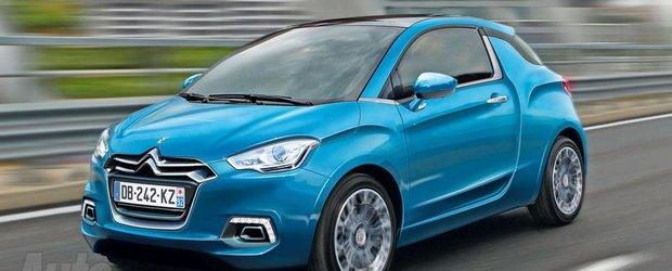Citroen vine cu un rival pentru Fiat 500 - DS1 in 3 portiere vine in 2013