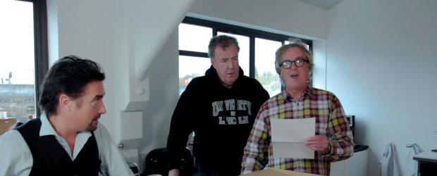 Clarkson, Hammond si May au tinut sa isi anunte fanii ca The Grand Tour va putea fi urmarit la nivel mondial in stilul lor caracteristic