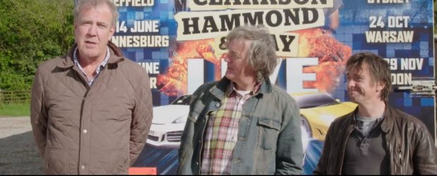 Clarkson, Hammond si May LIVE, noua emisiune a fostilor prezentatori Top Gear
