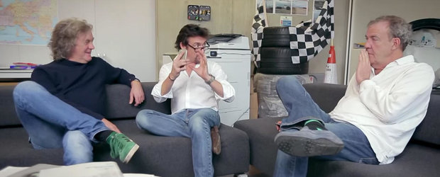 Clarkson, Hammond si May se chinuie sa reincalzeasca ciorba si sa caute un titlu pentru noua emisiune