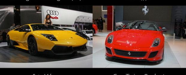 Clash of the Titans: Lamborghini LP670-4 SV vs. Ferrari 599 GTO
